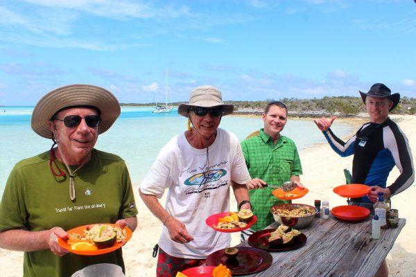 kayak the bahamas delicious kayaking meals