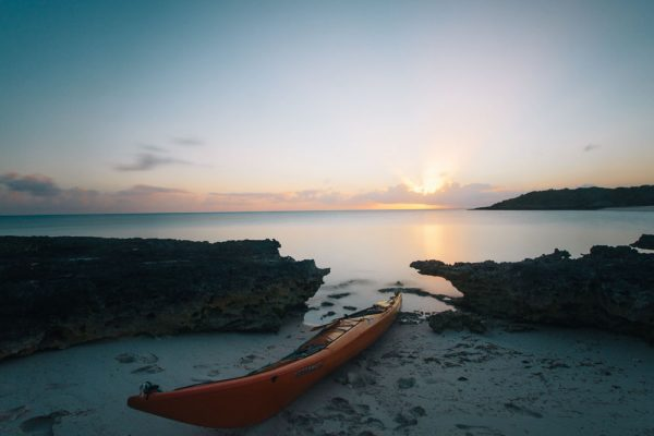 bahamas kayaking beach sunset