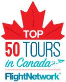 Top 50 tours award