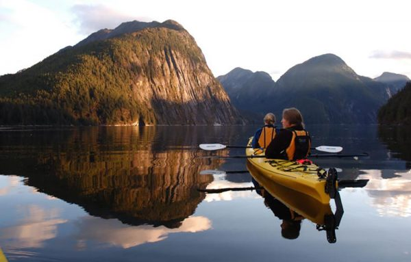 great bear rainforest mothership kayaking mountains