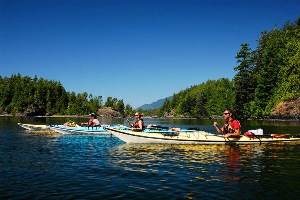 west coast kayaking camping