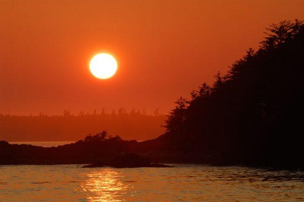 west coast sunset Vancouver Island